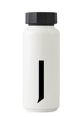 Bouteille isotherme Arne Jacobsen / 500 ml - Lettre J - Design Letters blanc en métal
