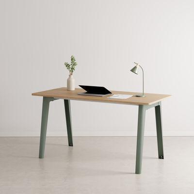 Bureau New Modern / 150 x 70 cm - Chêne éco-certifié - TIPTOE gris en métal/bois