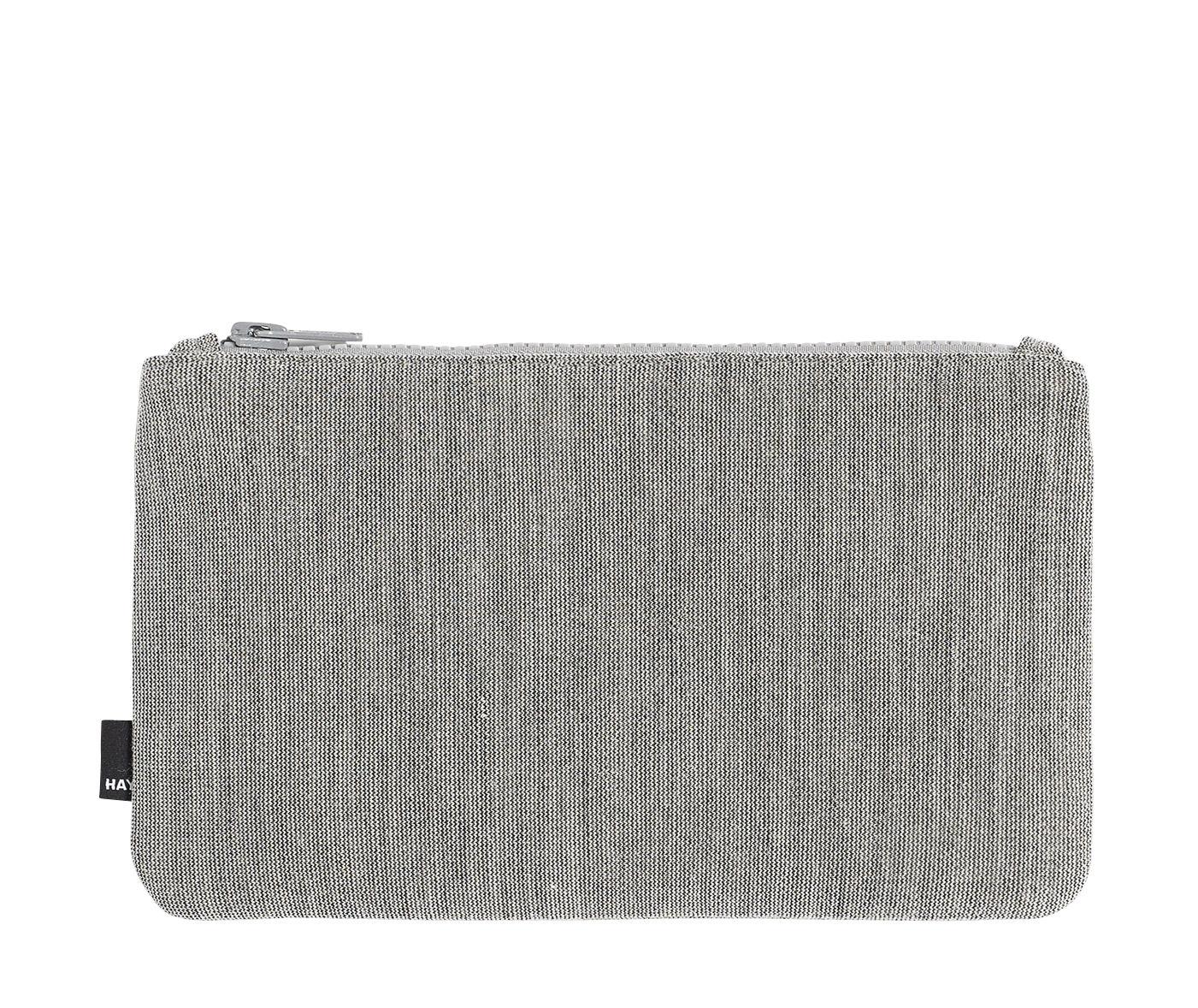 Accessories - Bags, Purses & Luggage - Zip Medium Case - L 22,5 x H 14 cm by Hay - Light grey - Kvadrat fabric