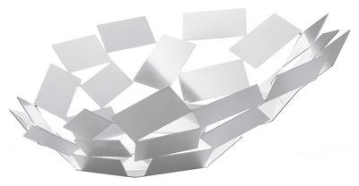 Tavola - Cesti, Fruttiere e Centrotavola - Centrotavola La Stanza dello Scirocco - Ø 41 cm x h 15 cm di Alessi - Bianco - Acciaio inossidabile