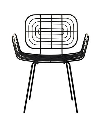 Mobilier - Chaises, fauteuils de salle à manger - Fauteuil Boston / Métal - Pols Potten - Noir - Métal laqué