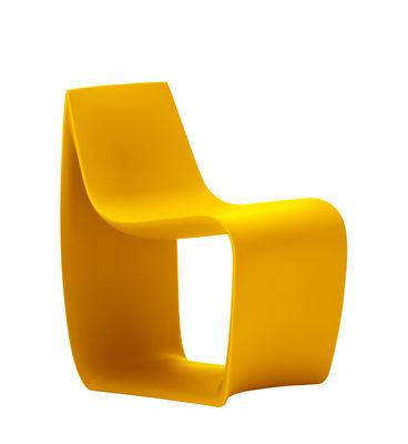 Fauteuil enfant Sign Baby / Polyéthylène - MDF Italia jaune en matière plastique