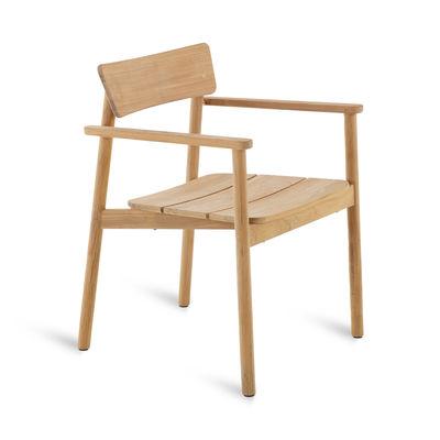 Mobilier - Chaises, fauteuils de salle à manger - Fauteuil Pevero / Teck - Unopiu - Fauteuil / Teck - Teck
