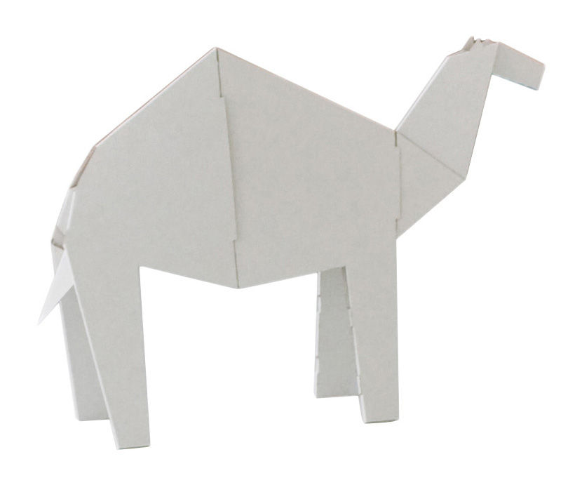 Decoration - Children's Home Accessories - My Zoo Dromadaire Figurine - Dromedary - Large by Magis Collection Me Too - White - Cardboard