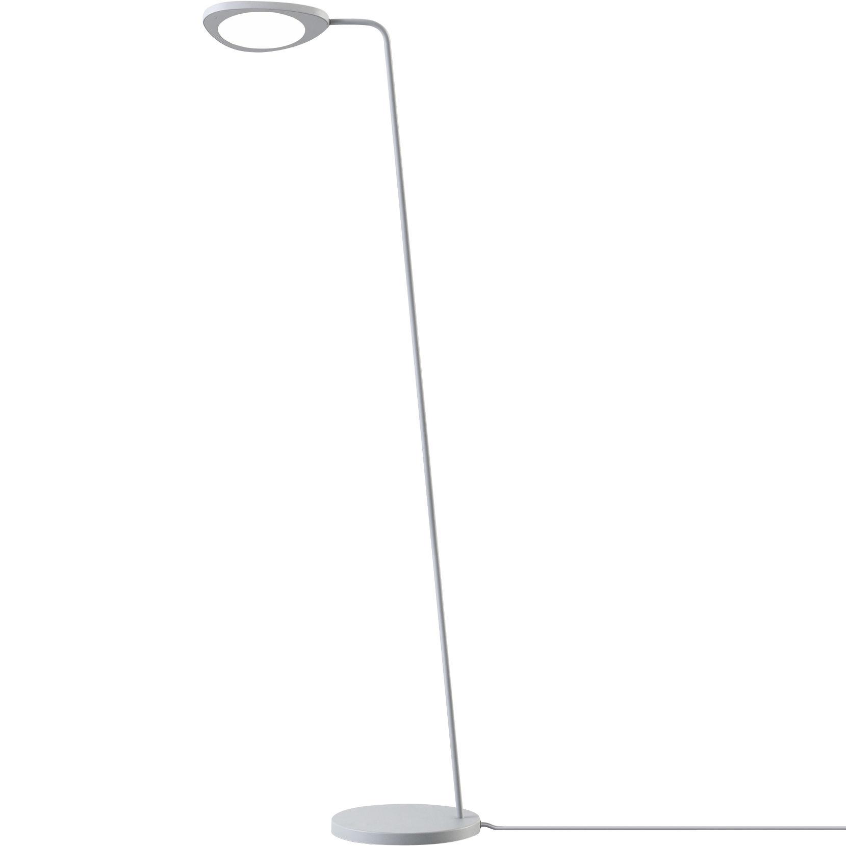 Luminaire - Lampadaires - Lampadaire Leaf / LED - Métal - Muuto - Gris - Aluminium