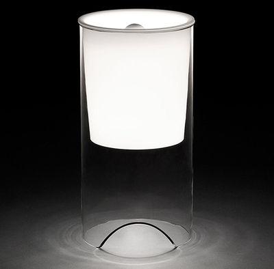 Luminaire - Lampes de table - Lampe de table Aoy / Modèle de 1975 - Flos - Transparent / Blanc - Verre soufflé