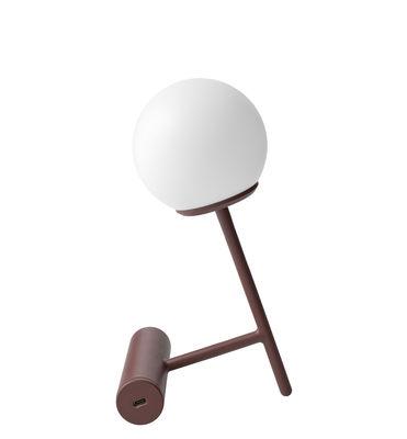 Lampe sans fil Phare LED Recharge USB Métal plastique Menu blanc,rouge brique en métal