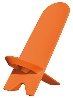 Furniture - Armchairs - Palabra Low armchair - Plastic by Stamp Edition - Orange - Polythene