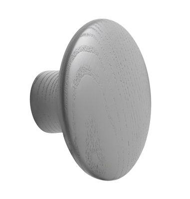 Mobilier - Portemanteaux, patères & portants - Patère The Dots Wood / Small - Ø 9 cm - Muuto - Gris foncé - Frêne teinté