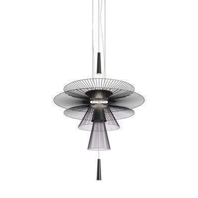 Illuminazione - Lampadari - Sospensione Gravity Origin LED - / Ø 120 x H 170 cm - Metallo di Forestier - Nero - Metallo