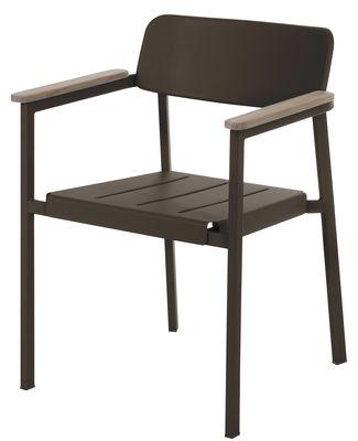 Shine Stapelbarer Sessel - Emu - Teak,Indisch-Braun