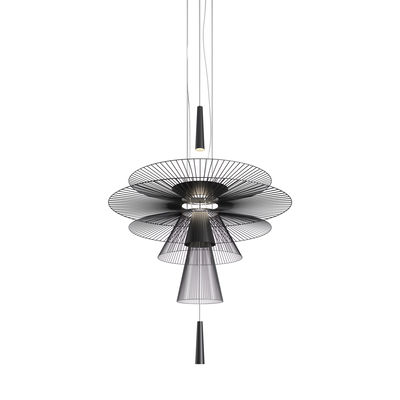 Suspension Gravity Origin LED / Ø 120 x H 170 cm - Métal - Forestier noir en métal