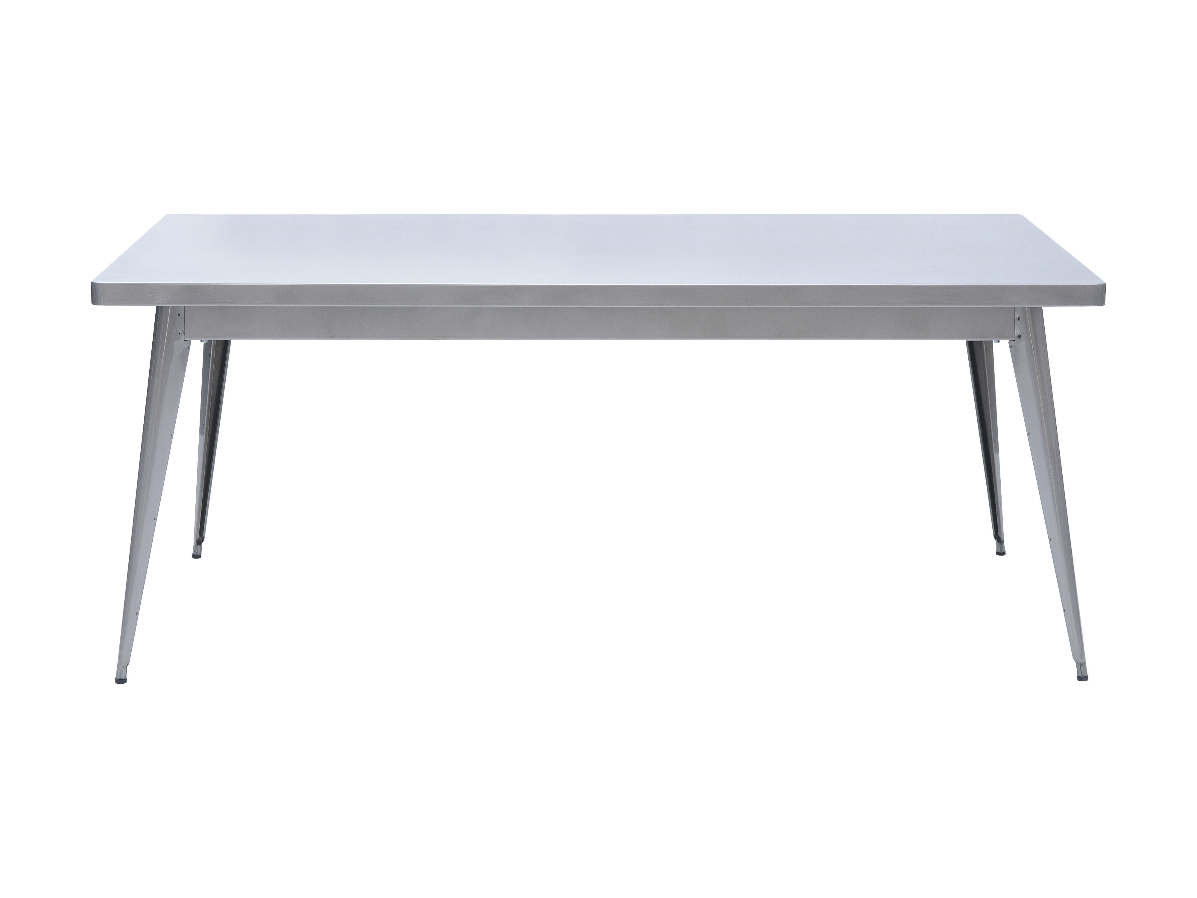 Rentrée 2011 UK - Bureau design - Table 55 / 130 x 70 cm - Pieds métal - Tolix - Acier brut verni brillant - Acier brut verni brillant