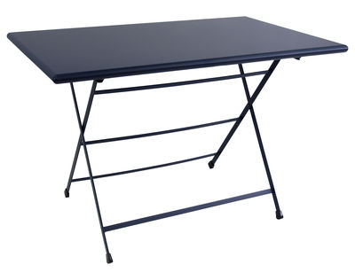 Table pliante Arc en Ciel / 110 x 70 cm - Emu bleu foncé en métal
