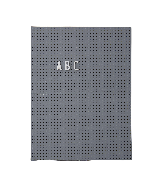 Déco - Mémos, ardoises & calendriers - Tableau memo A4 / L 21 x H 30 cm - Design Letters - Gris foncé - ABS
