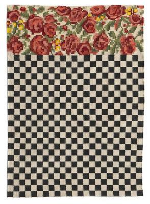 Interni - Tappeti - Tappeto per esterno Oaxaca - / Tessuto a mano - 200 x 300 cm di Nanimarquina - 200 x 300 cm / Nero & bianco - Polietilene