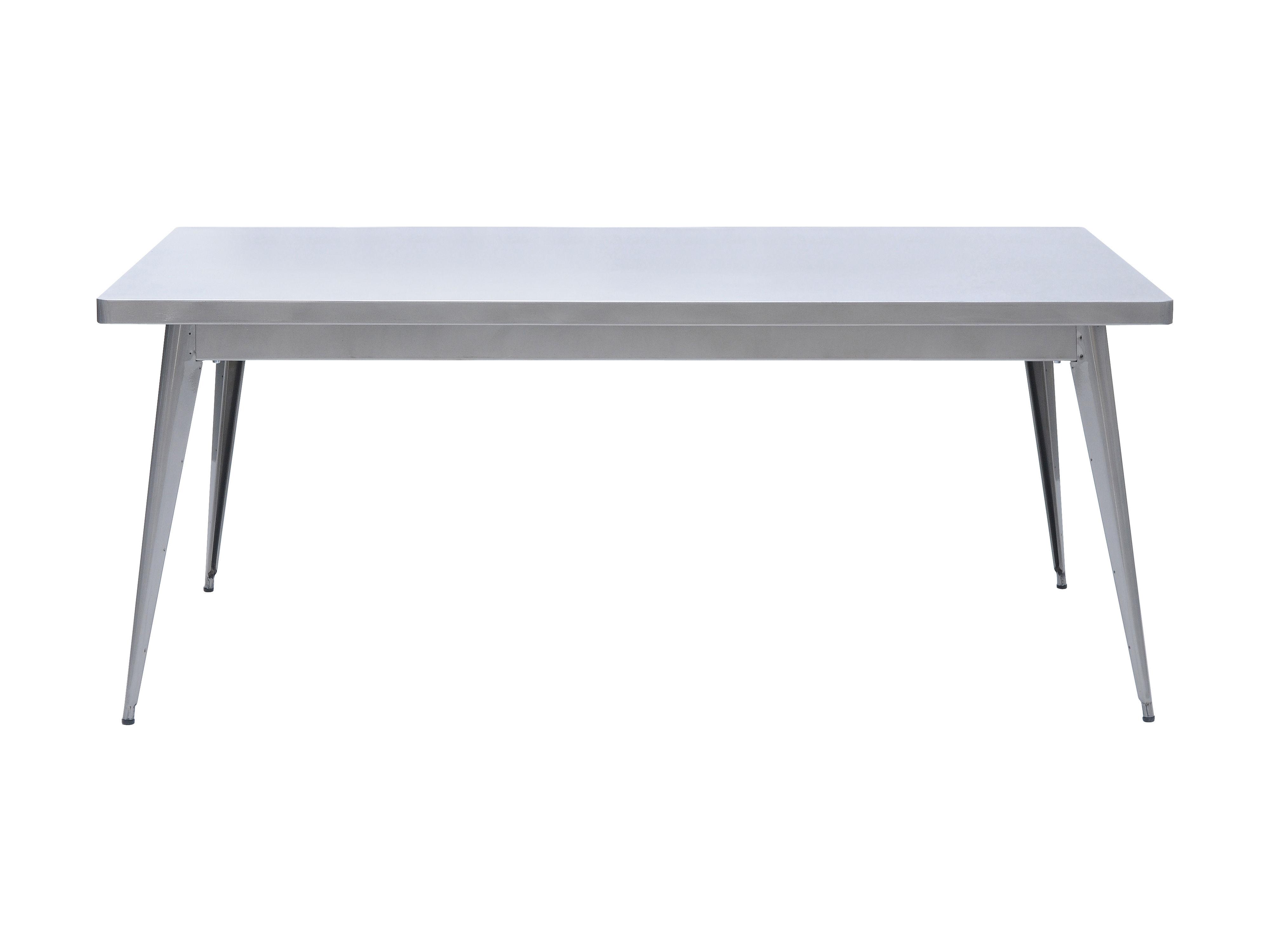 Rentrée 2011 UK - Bureau design - Tavolo rettangolare 55 - L 130 x larg 70 cm di Tolix - 130 x 70 cm - Vernice grezza brillante - Acier brut verni brillant