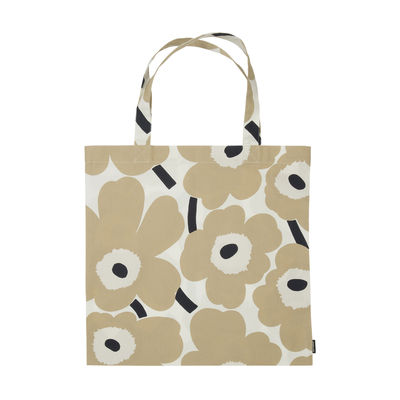Accessories - Bags, Purses & Luggage - Pieni unikko Tote bag - / Cotton by Marimekko - Pieni unikko / Beige - Cotton
