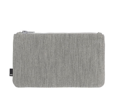 Accessoires - Sacs, trousses, porte-monnaie... - Trousse Zip Medium / L 22,5 x H 14 cm - Hay - Gris clair - Tissu Kvadrat