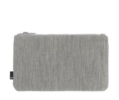 Trousse Zip Medium / L 22,5 x H 14 cm - Hay gris clair en tissu