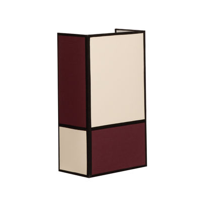 Lighting - Wall Lights - Radieuse Wall light - / H 36 cm - Cotton / Non-electrified by Maison Sarah Lavoine - Burgundy / Ecru & black cords - Cotton percale, Steel