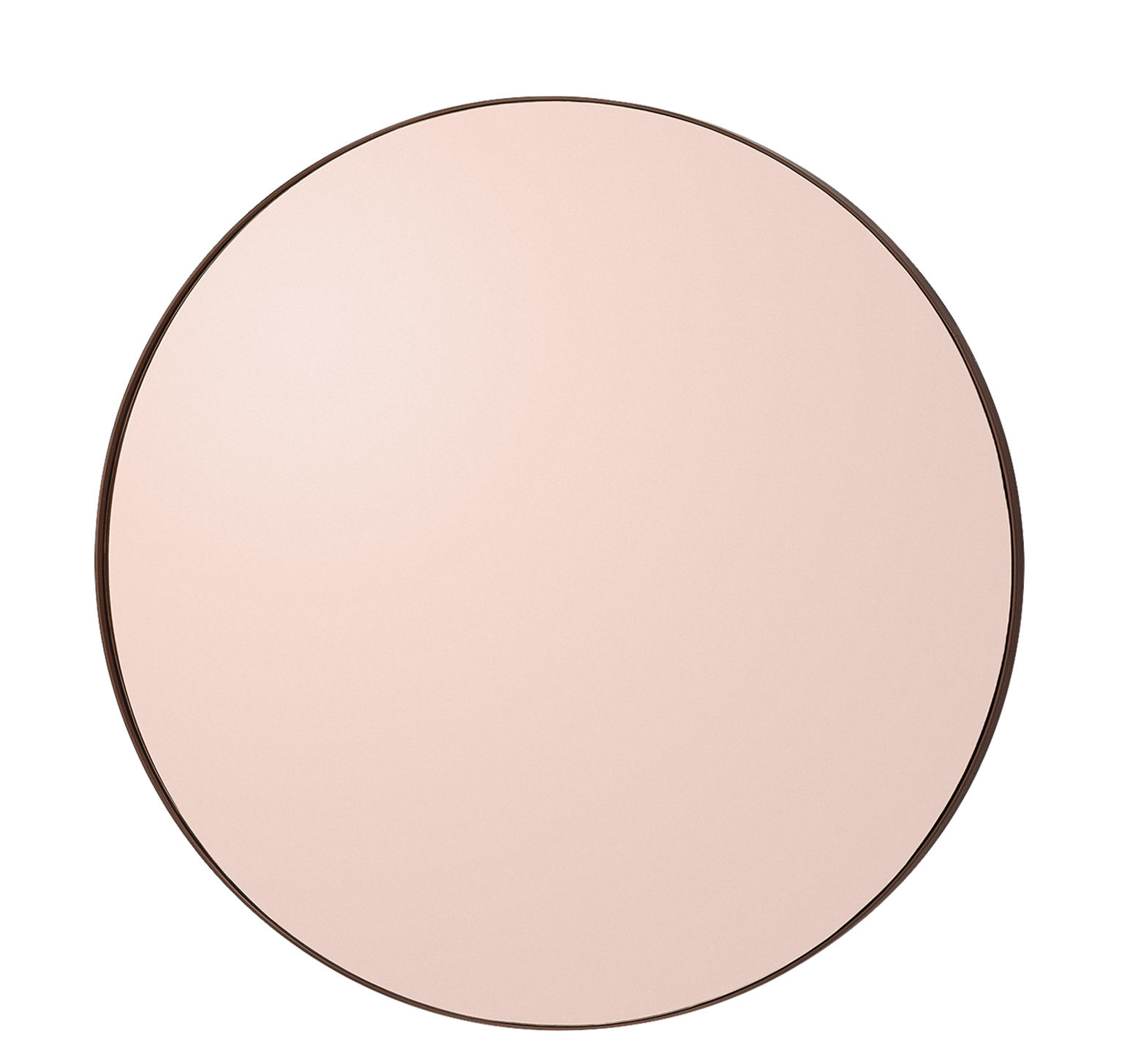 Decoration - Mirrors - Circum Small Wall mirror - Ø 70 cm by AYTM - Smoked pink - Glass, Painted MDF