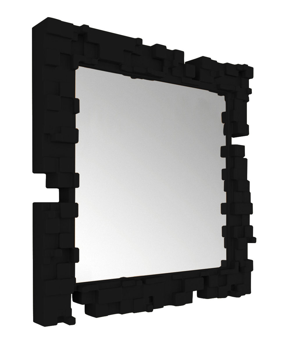 Furniture - Mirrors - Pixel Wall mirror by Slide - Black - Polythene