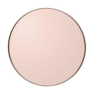 Dekoration - Spiegel - Circum Small Wandspiegel / Ø 70 cm - AYTM - Rauchglas, rosa - Glas, mitteldichte bemalte Holzfaserplatte