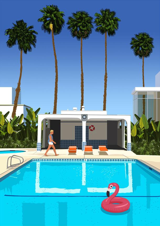 Déco - Objets déco et cadres-photos - Affiche Paulo Mariotti - Palm Springs / 40 x 50 cm - Image Republic - Palm Springs - Papier