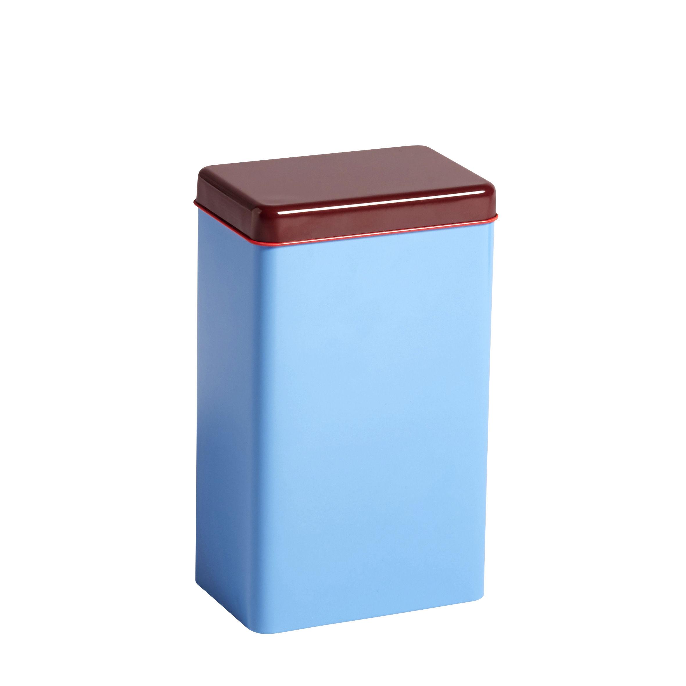 Kitchenware - Kitchen Storage Jars - Sowden Airtight box - / H 20 cm - Metal by Hay - Blue - Tinplate