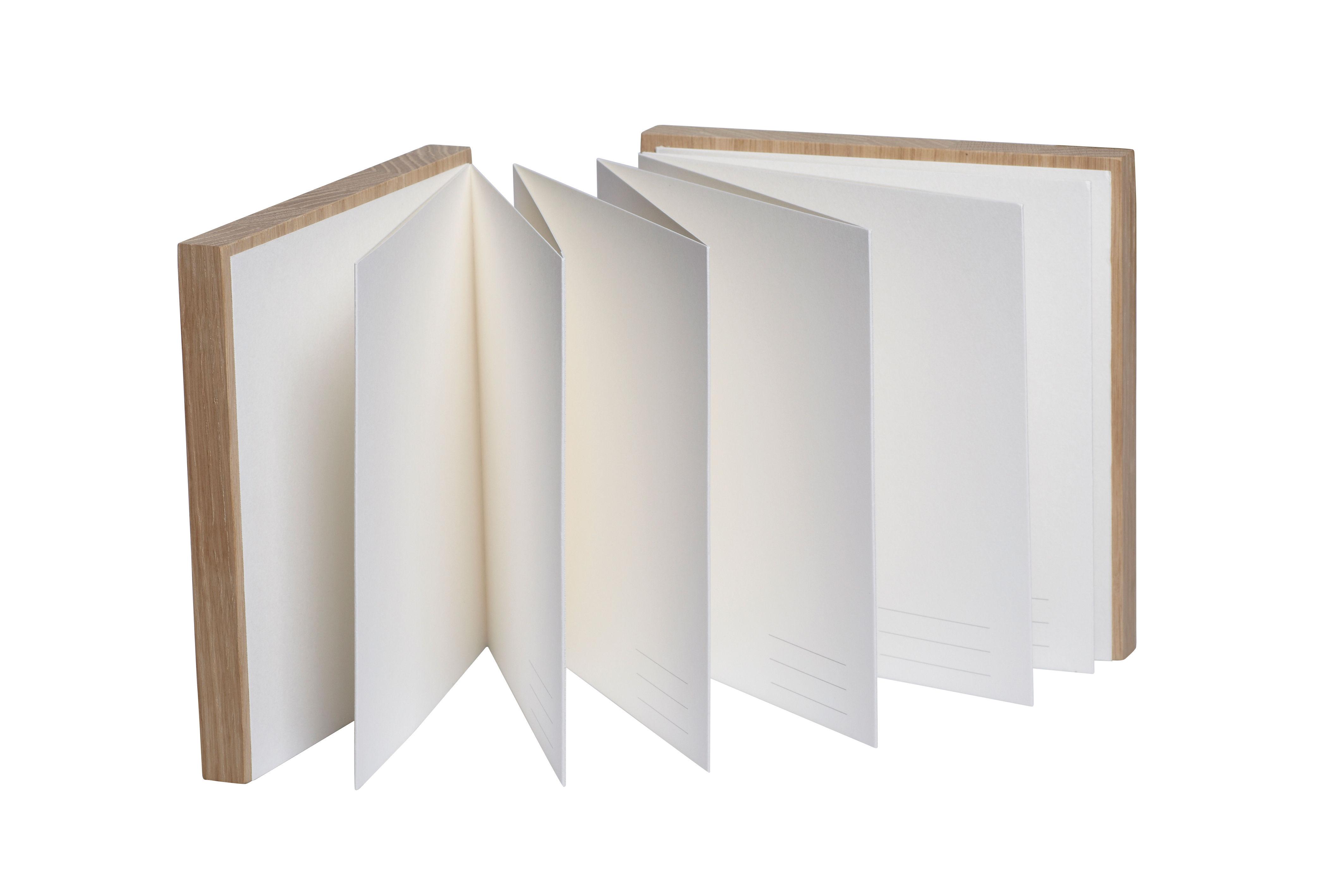 album photo portfolio / cahier & herbier - en chêne chêne / blanc