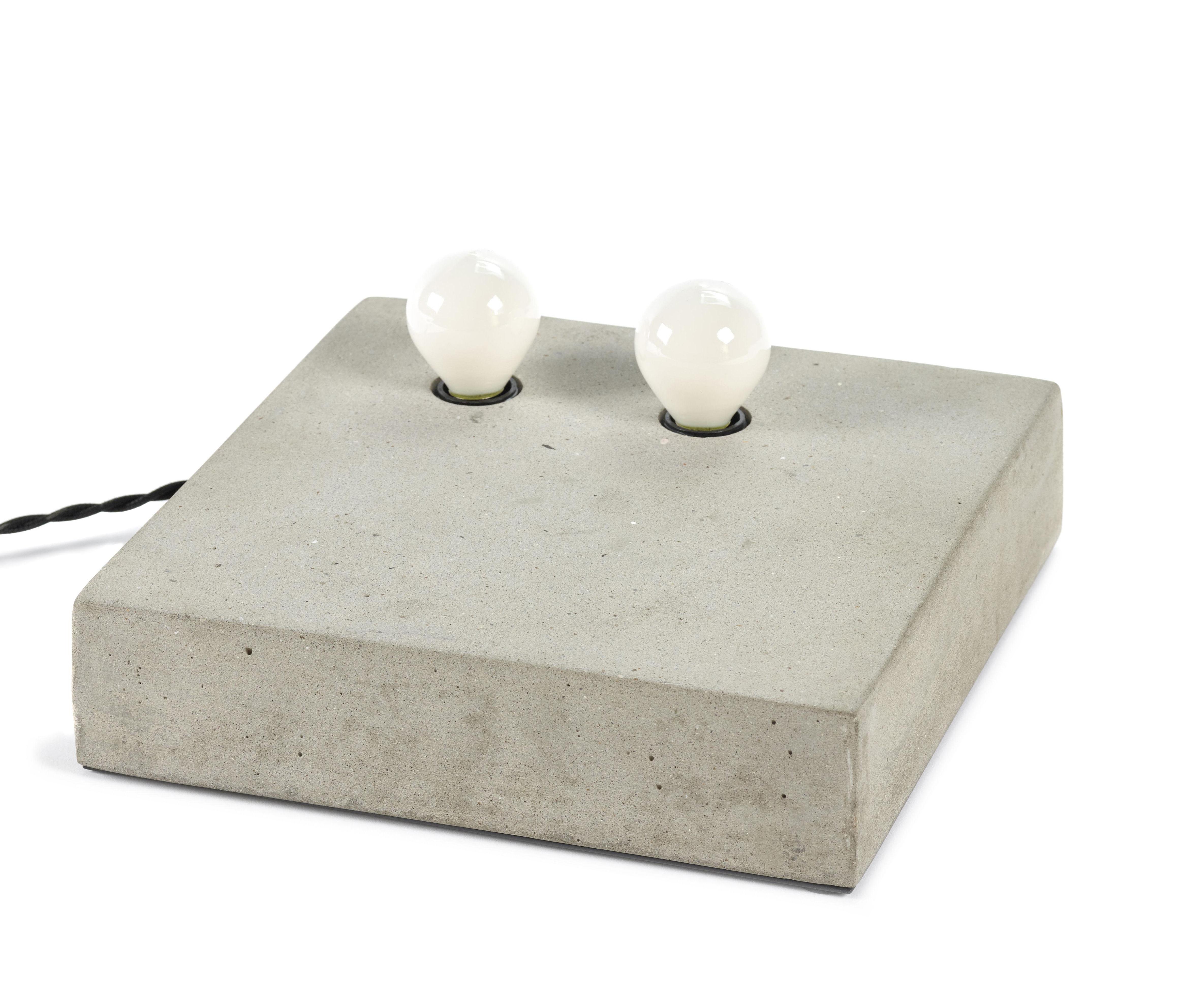 Illuminazione - Lampade da tavolo - Applique Essentials n°2 - / Applique - Cemento - 25 x 25 cm di Serax - Cemento / grigio - Calcestruzzo