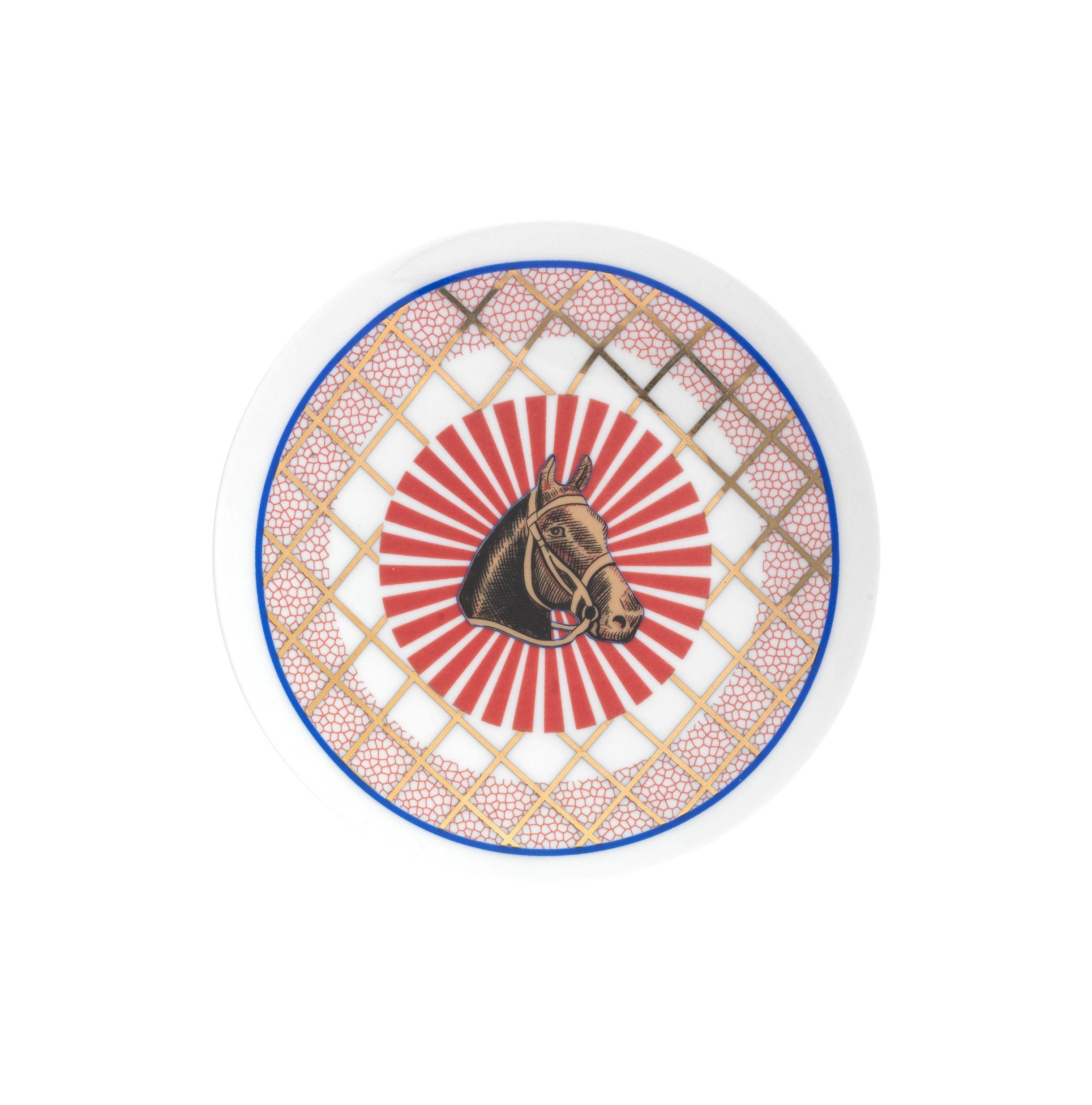 Arts de la table - Assiettes - Assiette à dessert Bel Paese - Cavallo / Ø 12 cm - Bitossi Home - Cheval - Porcelaine