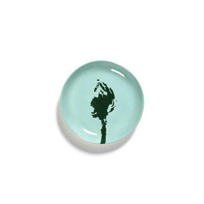 Arts de la table - Assiettes - Assiette à mignardises Feast XS / Ø 16 cm - Serax - Artichaut / Turquoise & vert - Grès émaillé
