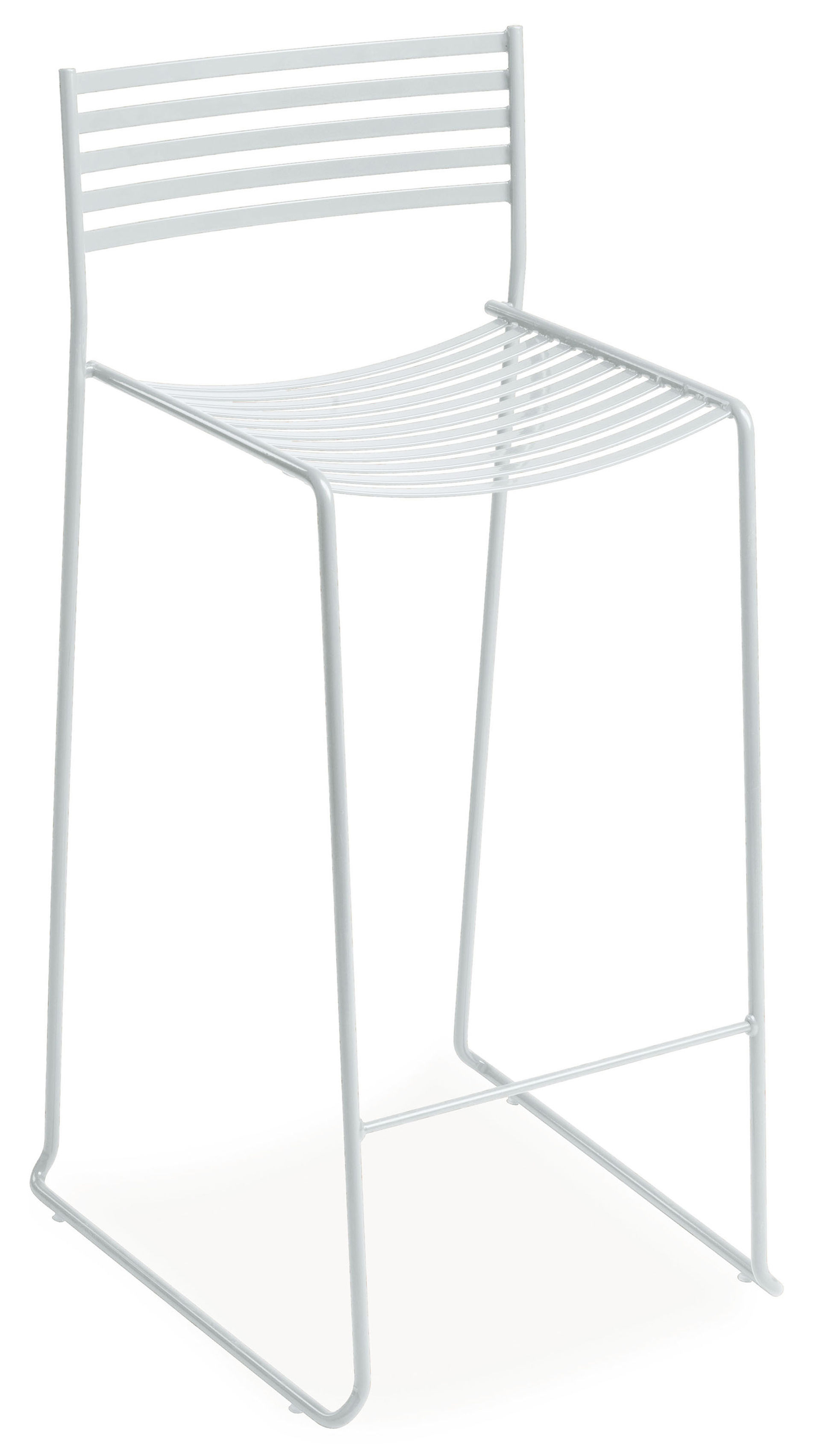 Furniture - Bar Stools - Aero Bar chair - H 64 cm - Metal by Emu - White - Lacquered steel