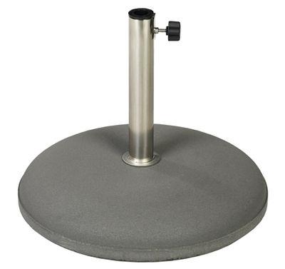Outdoor - Ombrelloni - Base da ombrellone - in cemento / Ø 49 cm di Vlaemynck - Antracite - Calcestruzzo, Inox