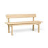 Peka OUTDOOR Bench with backrest - / L 150 cm - Accoya-treated pine by Ferm Living