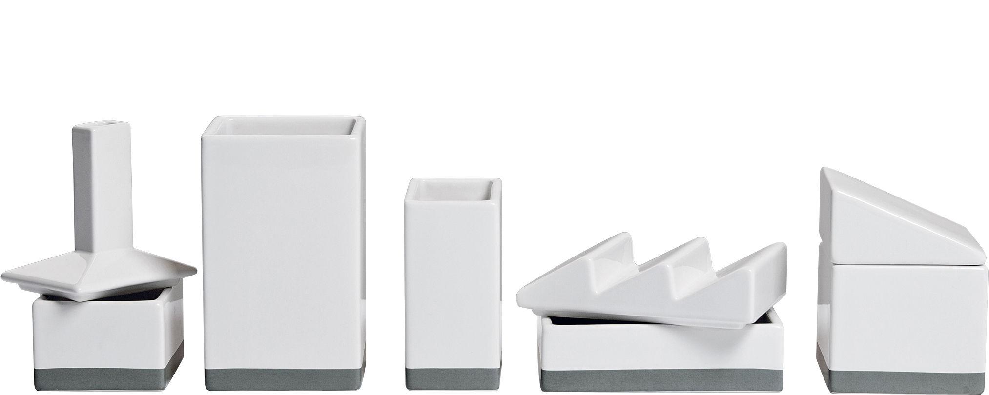 Decoration - Office - L'usine Box - Desk organizers - W 33 cm by Seletti - White - China