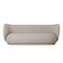 Canapé droit Rico / 3 places - L 210 cm - Tissu bouclé - Ferm Living
