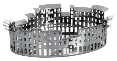 Centre de table 100 Piazze - Lucca - Driade Kosmo gris/argent en métal