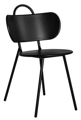 Mobilier - Chaises, fauteuils de salle à manger - Chaise Swim / Métal - Bibelo - Noir - Acier laqué époxy