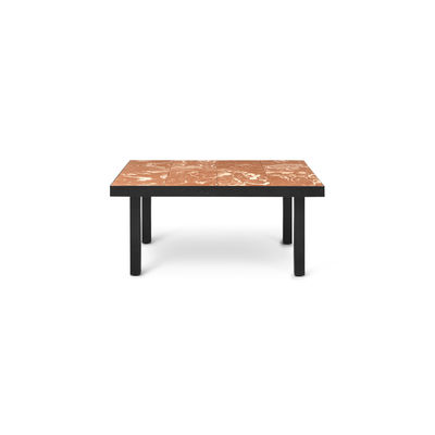 Furniture - Coffee Tables - Flod Tiles Coffee table - / 81 x 60 cm - Hand-made clay tiles by Ferm Living - Terracotta - Clay tiles, Powder coated steel