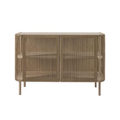 Furniture - Dressers & Storage Units - Cord Dresser - / Braided paper cord - L 120 x H 80 cm by Bolia - Oak / Natural cord - Solid oak FSC, Woven paper