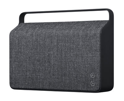 St-Valentin - Pour Lui - Enceinte Bluetooth Copenhague / Sans fil - Tissu & poignée alu - Vifa - Gris ardoise - Aluminium, Tissu Kvadrat