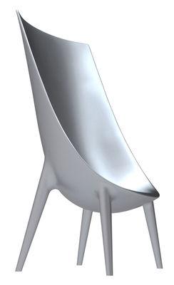 Mobilier - Chaises, fauteuils de salle à manger - Fauteuil Out-In dossier haut - Version laquée - Driade - Laqué argent - Polyéthylène laqué