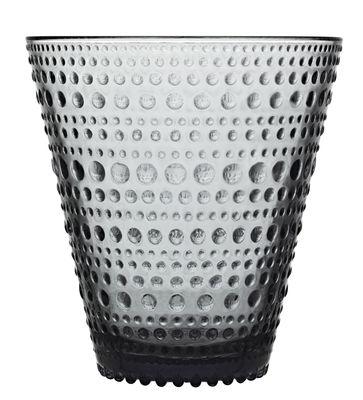Tischkultur - Gläser - Kastehelmi Glas / Set aus 2 Gläsern - 30 cl - Iittala - Grau - Pressglas