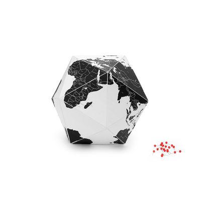 Déco - Pour les enfants - Globe terrestre Here by countries Small / Ø 23 cm - Papier / à personnaliser : Inclus 50 épingles - Palomar - Ø 23 cm / Noir & blanc - Métal, Papier