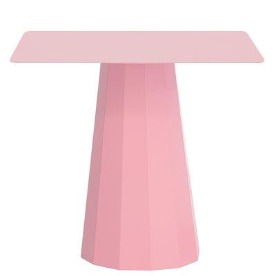 Mobilier - Tables basses - Guéridon Ankara M / 70x70 x H 60 cm - Matière Grise - Rose clair - Acier