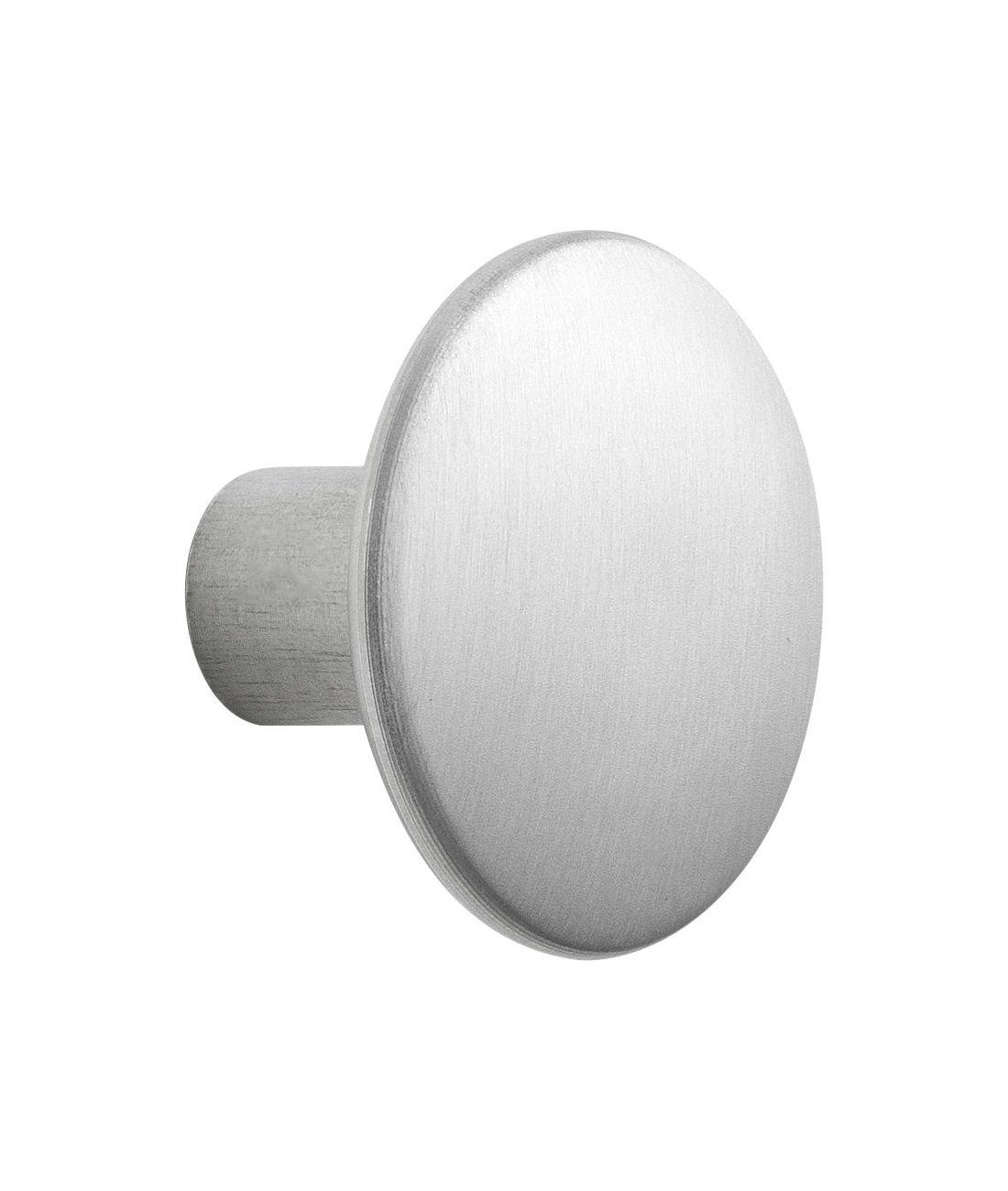 Furniture - Coat Racks & Pegs - The Dots Metal Hook - Medium - Ø 3,9 cm by Muuto - Aluminium - Aluminium