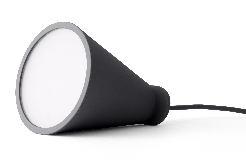 Illuminazione - Lampade da tavolo - Lampada Bollard / Portatile da appoggiare o sospendere - H 13 cm - Menu - Carbone - Plastica, Silicone